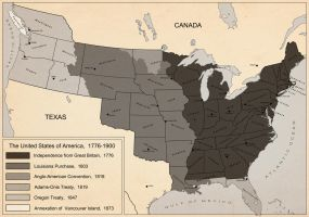 Territorial Evolution of America by LaTexiana