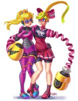 Princess Peach and Ribbon Girl! by Comadreja