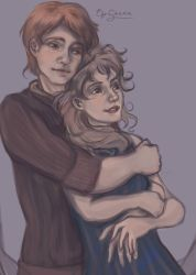 Ron and Hermione by MeryChess