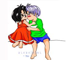 Trunks y Pan. Primer Amor by Alexeigirl