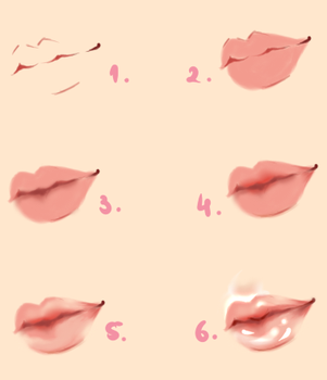 Lips - Tutorial by Kipichuu