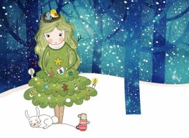 christmas tree - mood by lettipaa
