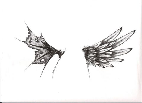 tattoo wings by LilDevilMomoko