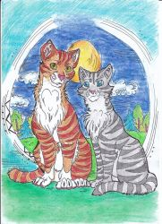 Leafpool and Jayfeather by Nianes