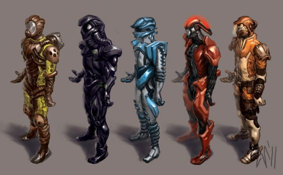 Space Suits by CBSorgeArtworks