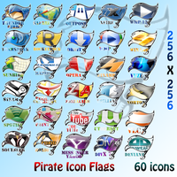 Pirate Flag Icons by Denmark1977