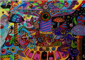 PSYCHEDELIC MERRY-GO-ROUND by Acid-Flo