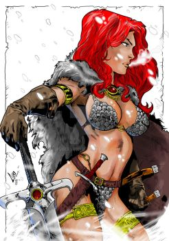 Red Sonja by Caio Marcus with my inks and colors