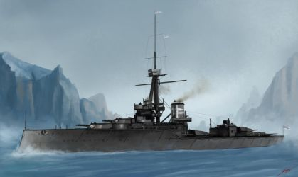 H.M.S. Orion by Luches