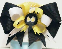 Catwoman black white and yellow headband by wolf-girl87