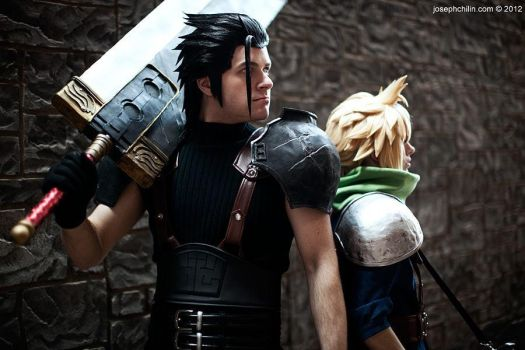 Zack and Cloud by Ex-Shadow