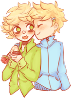 butters SWOOPS in to fluster his bf by Pumptkin