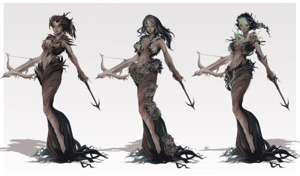 Dryad concepts by HaruFREAK