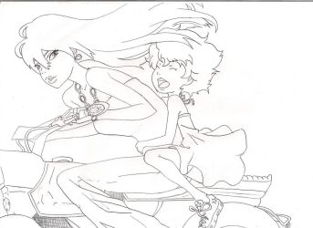 michiko hatchin coloring page by Rua-tapu