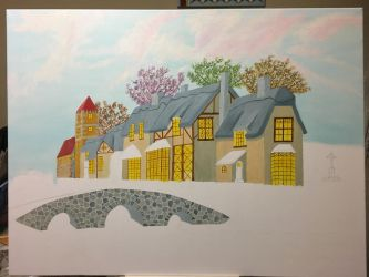 Houses and bridge WIP9 by dublodz