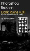 Shades Dark Ruins v.01 HD Photoshop Brushes by shadedancer619