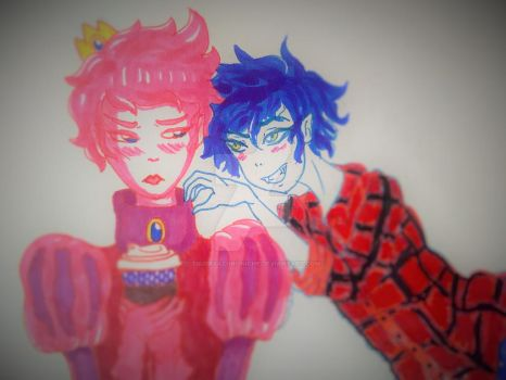 prince gumball and marshall lee color1 by tsubasachroniche