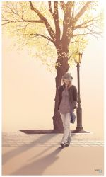 A walking girl by seencleyr