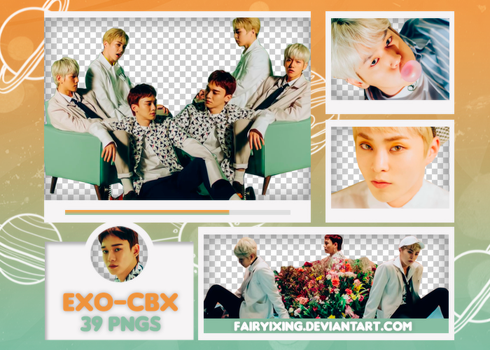 [PNG PACK #620] EXO-CBX - Blooming Day (MV) by fairyixing