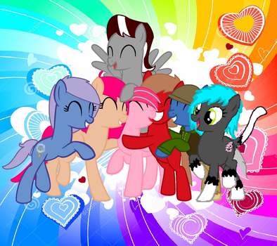 Me and the ponies who care about me by deslove01