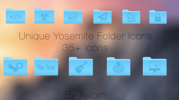 35+ Unique Yosemite Folder Icons by Axiom-Apps
