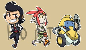 Stickers: Space Dandy by forte-girl7