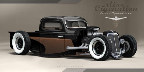 rat rod rendering2 by SurfaceNick