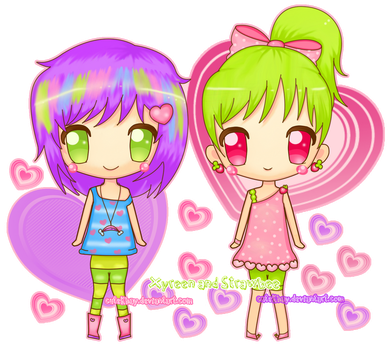 Xyreen and Strawbee by cutekhay