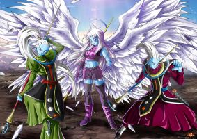 OC : Tenshi with Vados and Whis by Maniaxoi