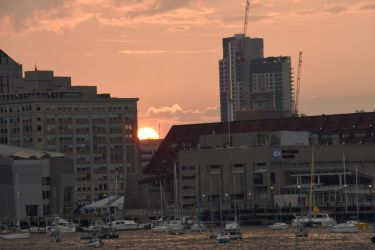 Setting Sun In the Boston Harbor 2 by Miss-Tbones
