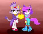 Keno And Blaze Fire Heart (Gift) by silverblue14