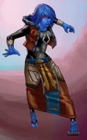 Chiss Lady SWTOR by Aliens-of-Star-Wars