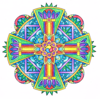 Strength Vajra Mandala (Colored) by candy-hippie