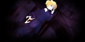 LAT Deep Blue Fox Len Kagamine DOWNLOAD by MMDLADDyBoi003