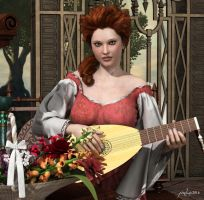 The Lute Player by pixeluna