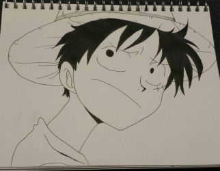 Luffy by rawrdoodles