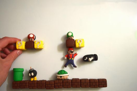 Super Mario Maker Magnets by kerobyx