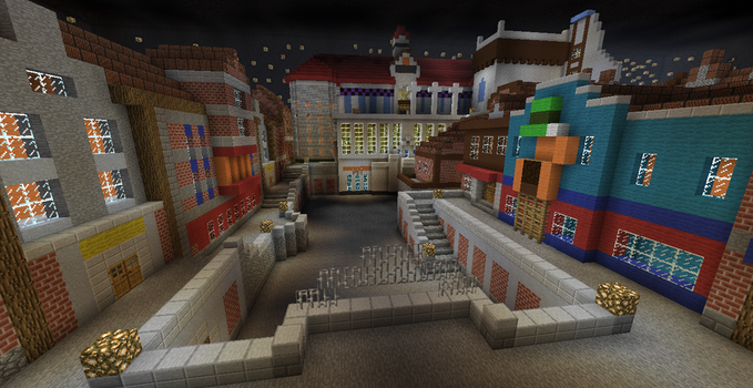 Minecraft Kingdom Hearts: Traverse Town by Zimfan508