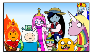 Adventure Time Forever(Colored) by hansungkee