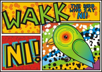 Wakk - The bird who say Ni by YoutaXD