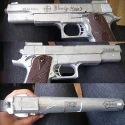 Vampire Knight - Zero bloody rose gun by Londonexpofan
