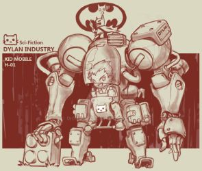 kids mobile mech by diorzhang