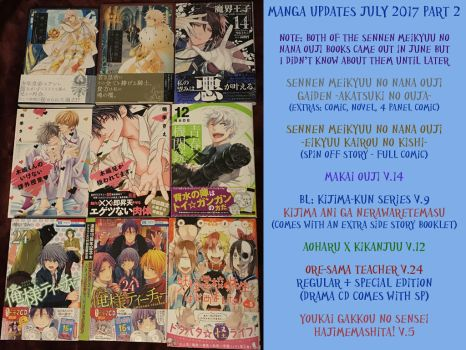 Manga Updates for July 2017 part 2 by LuffyNoTomo