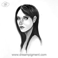 Young Woman Face Study by DreamPigment