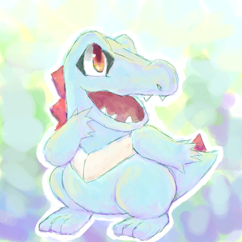 Totodile by Alyossan