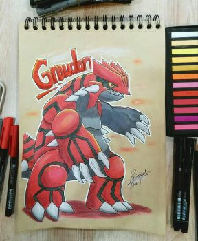 Groudon! || Commission by Ppoint555