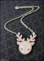 Acrylic Fawn Necklace by littlepaperforest
