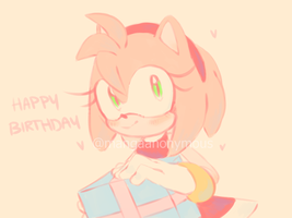 Happy Birthday Amy Rose by Mangaanonymous