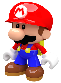 Mini Mario Toy Render by Nintega-Dario