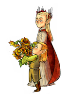 Lego with sunflovers by Lis-Alis